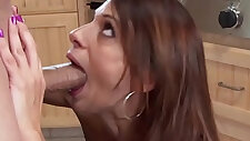 Mommy facefucking until messy facial