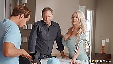 Massive tits Alura TNT Jenson makes hard dick disappears in her pussy