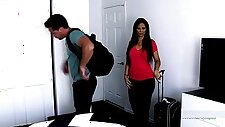 Hot stepmom fucks her son