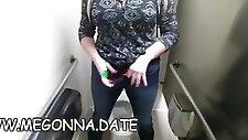 Big tits college girl toilet masturbation