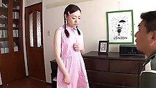 Incredible asian young girl Mao Sena featuring cum eating XXX acion