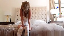 Step Dad fucks daughter after she sees his big cock - teen c