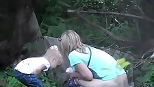 Lots of women caught pissing outdoors