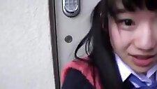 Japanese school girl ass