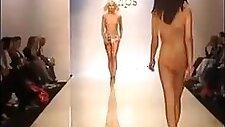 Naked boobs on Fashion Show
