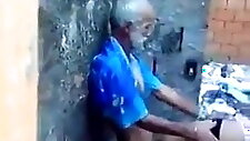 Old man fucks the young girl arab