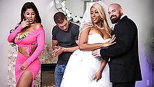 Bridgette B  Moriah Mills  Xander Corvus in Moriahs Wedding Shower - BRAZZERS