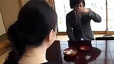 Lustful Japanese housewife is starving for a young hard cock
