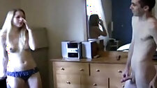 Sister finds his brother in the closet masturbating and fucks