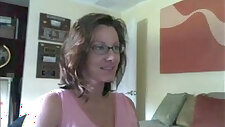Pregnant Woman around With horny sexy Glasses Strips