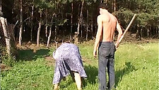 Mature and teen girl Fucked By The Farm Boy Outdoors