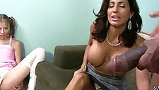 Monster hard cock bangs my moms pussy
