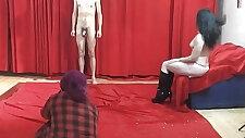 19yo casting boy gets wild striptease from MILF