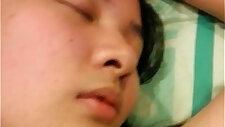 Sleeping asian slut
