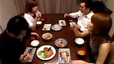 A Asian teenager is sitting at the dining table. Wit from xxxvideo.best