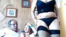 Cute Old And Young Threesome