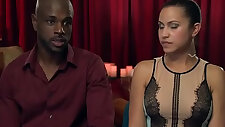 Interracial orgy session with blowjob fucking in a swingers reality show